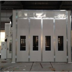 10m Spray Booth With Riello Diesel Burner And LED For Mini Bus